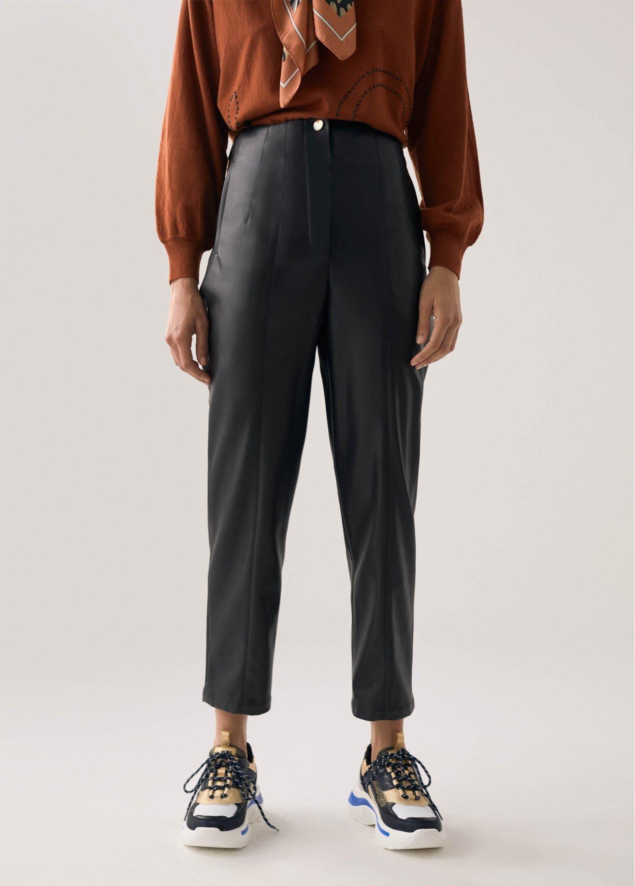 Pantalón efecto pinzado, negro 2