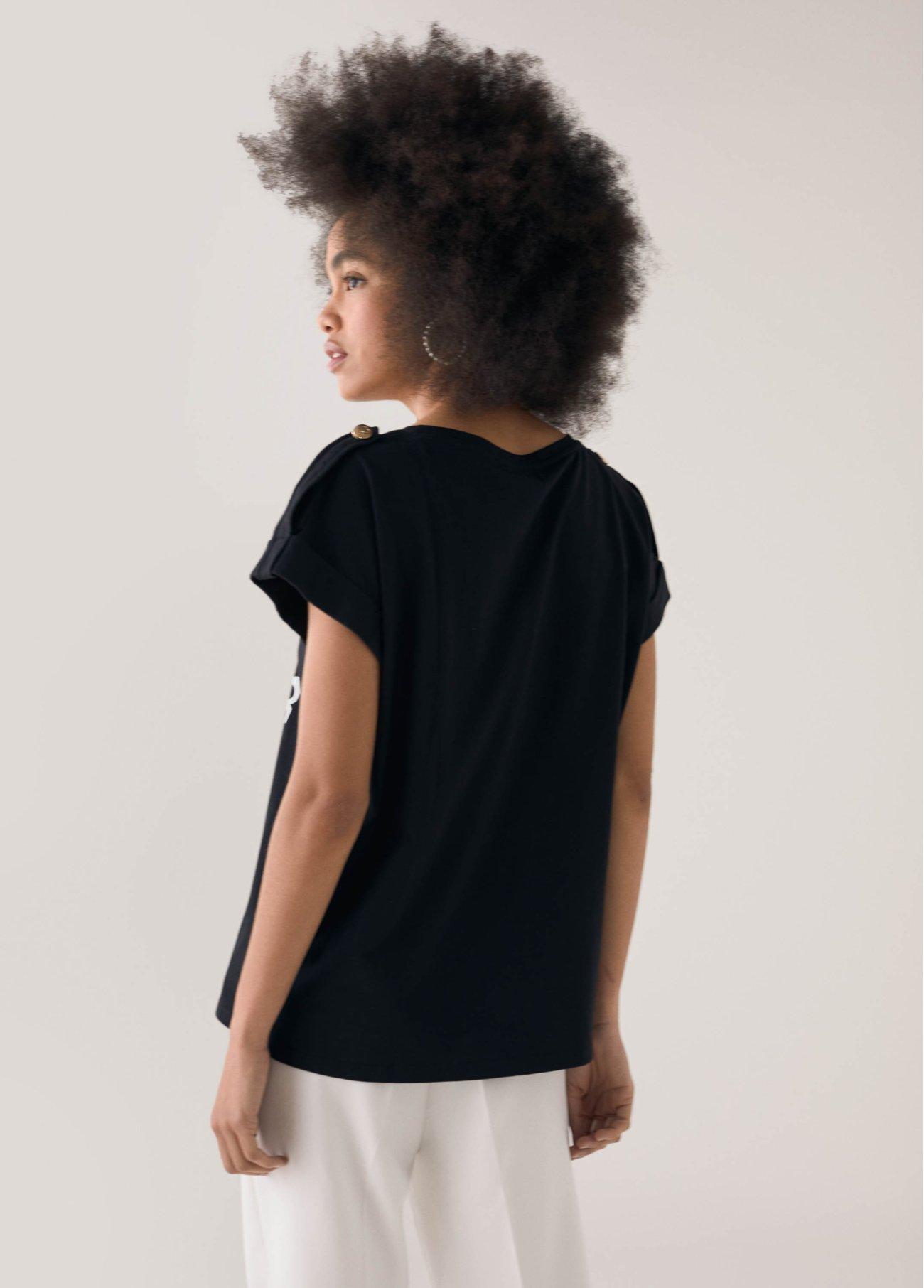 Camiseta logomanía, negro 2