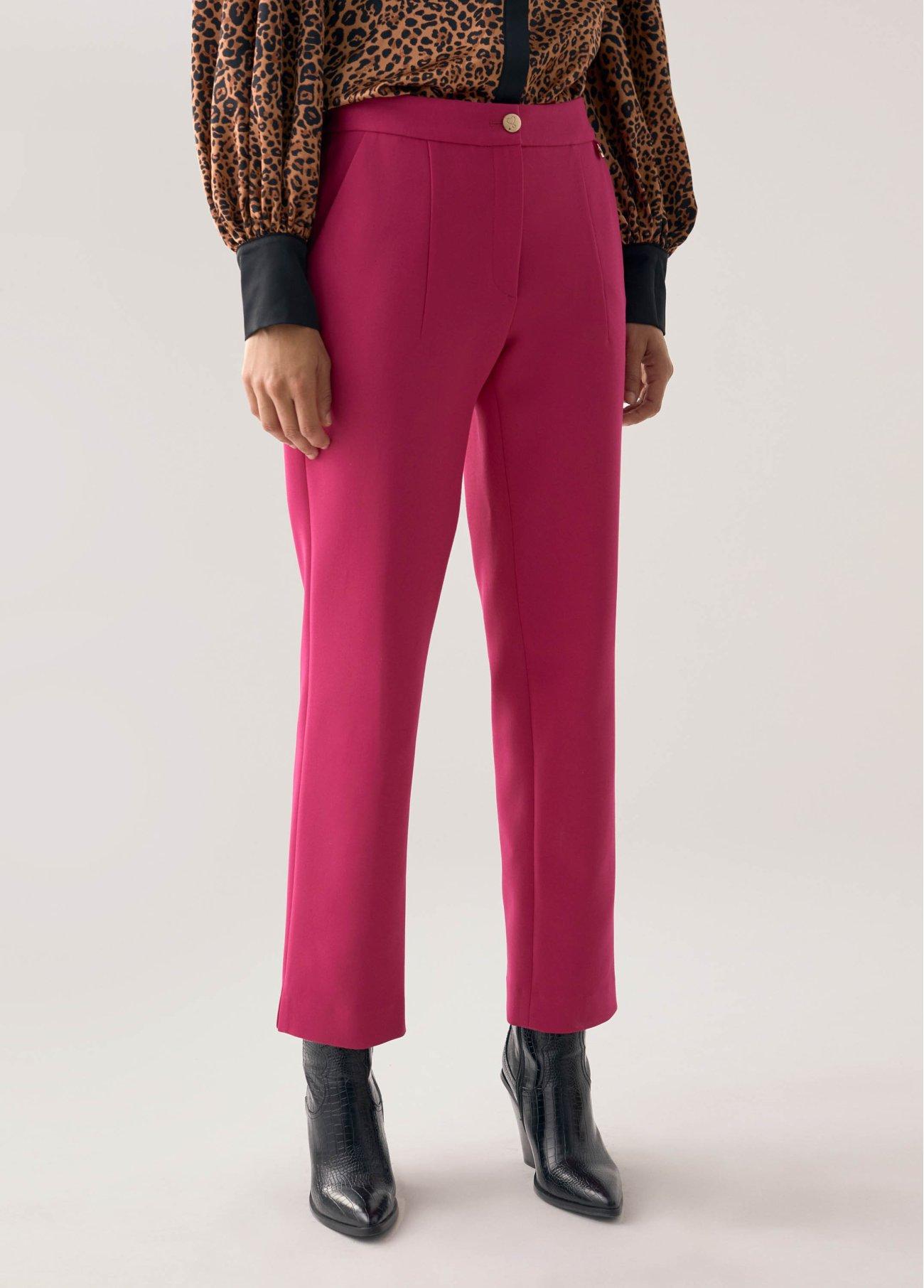 Pantalón estilo traje, fucsia 2