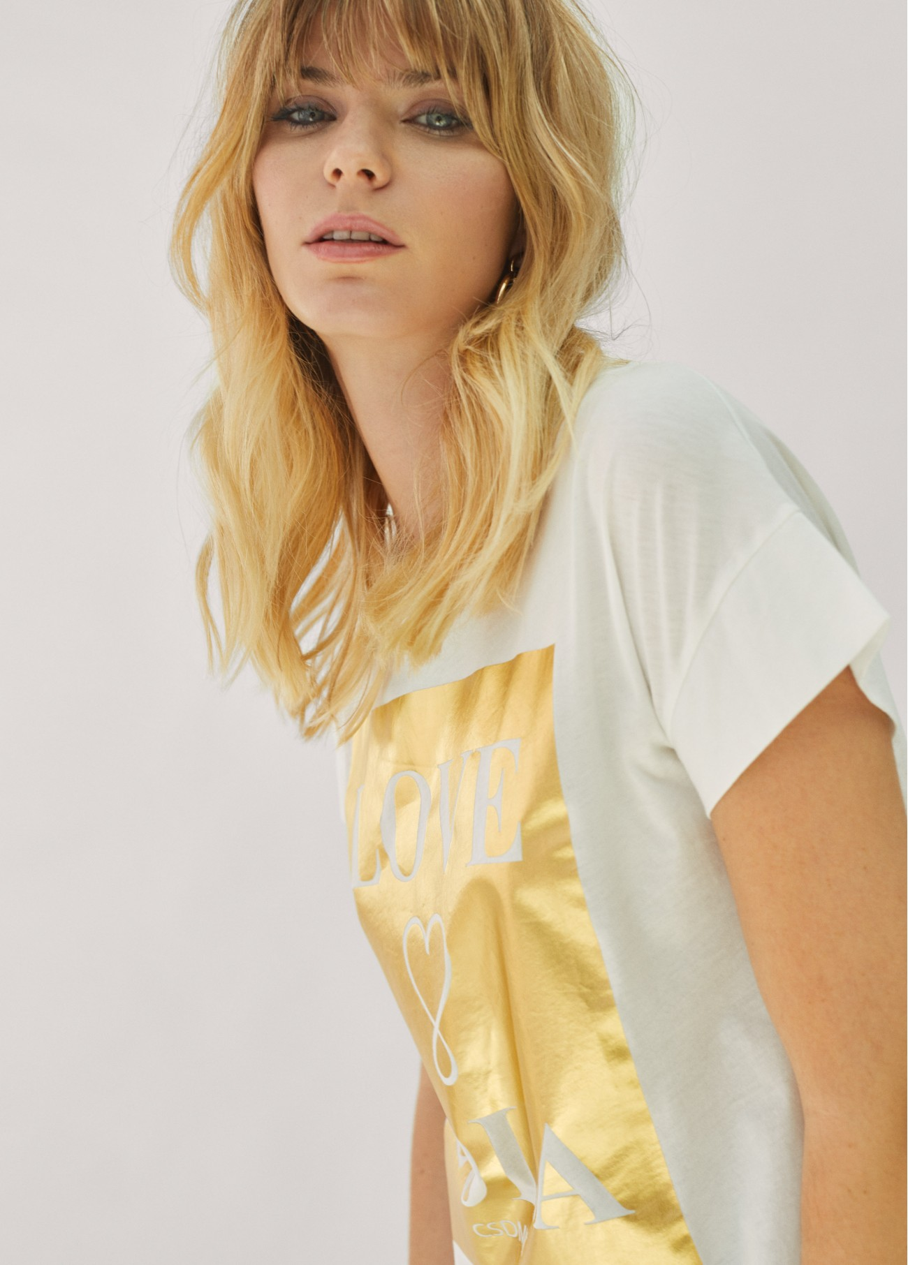 Camiseta Love Lola, rosa, dorado 2