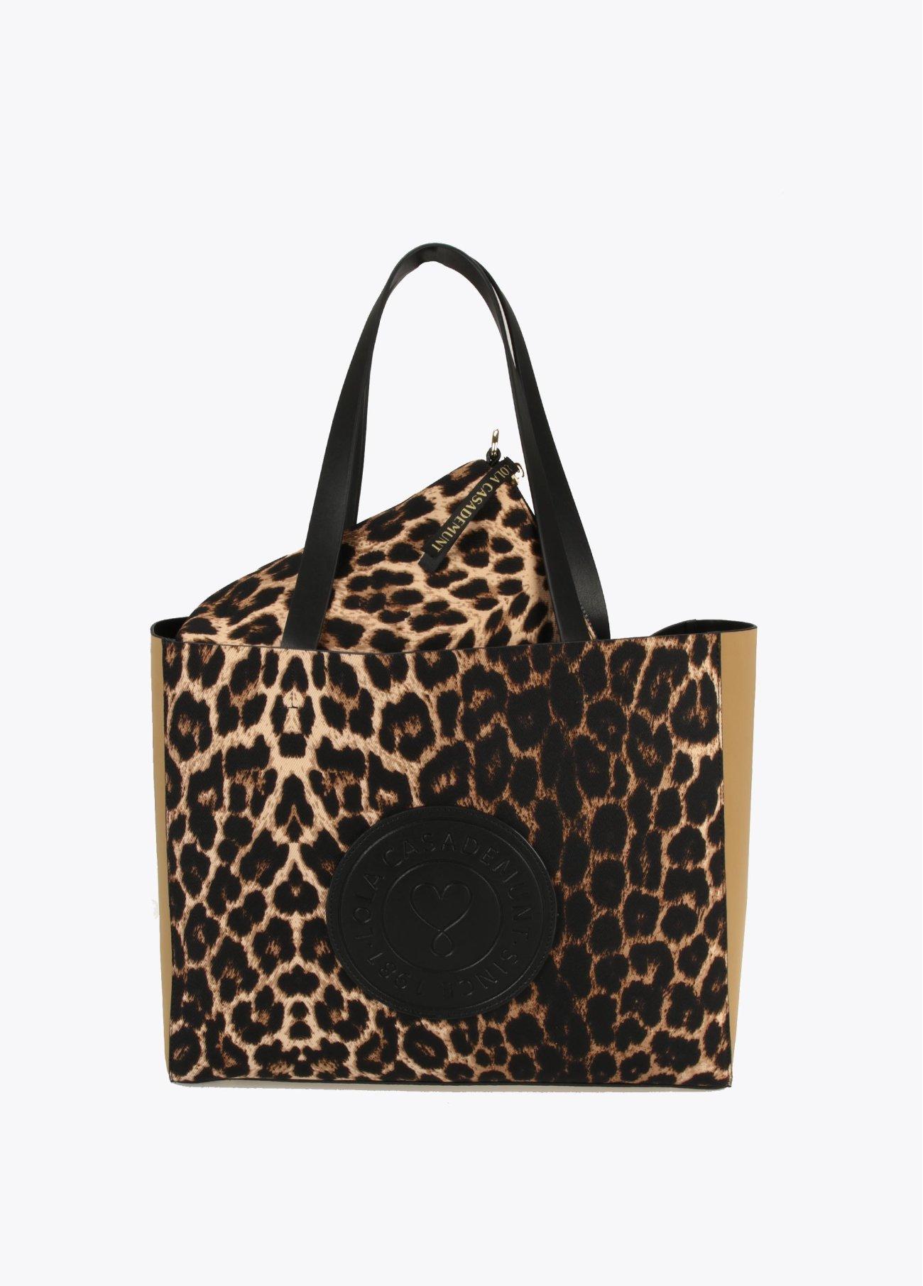 Bolso shopper leopardo,  2