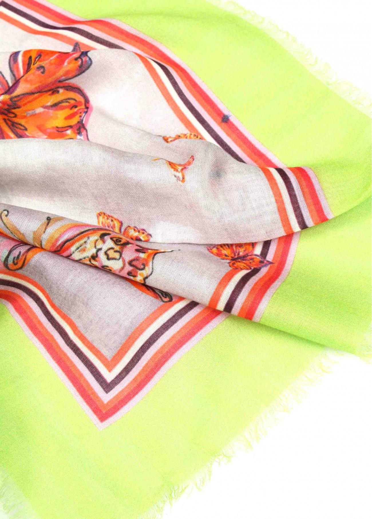 Pañuelo mariposas borde lima,  2