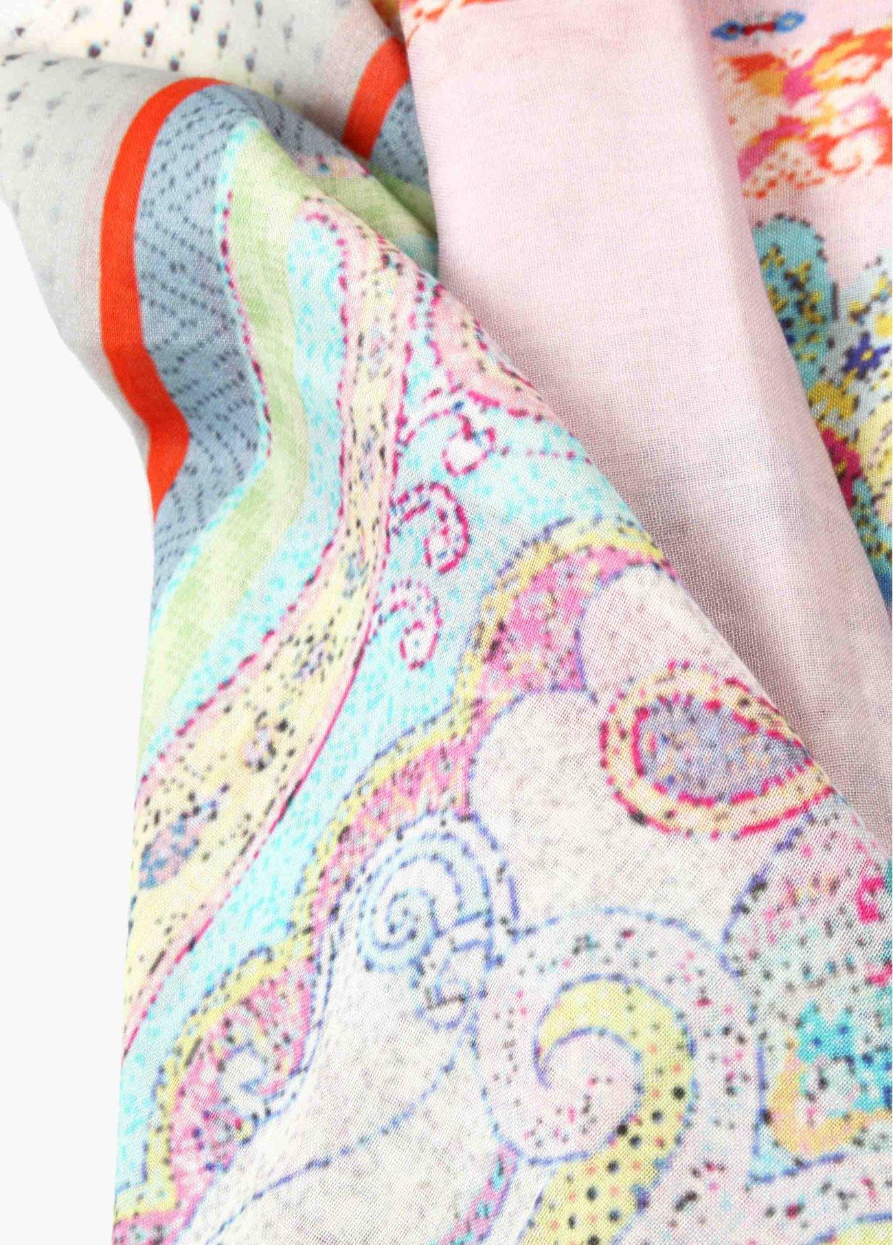 Pañuelo estampado paisley malvas,  2