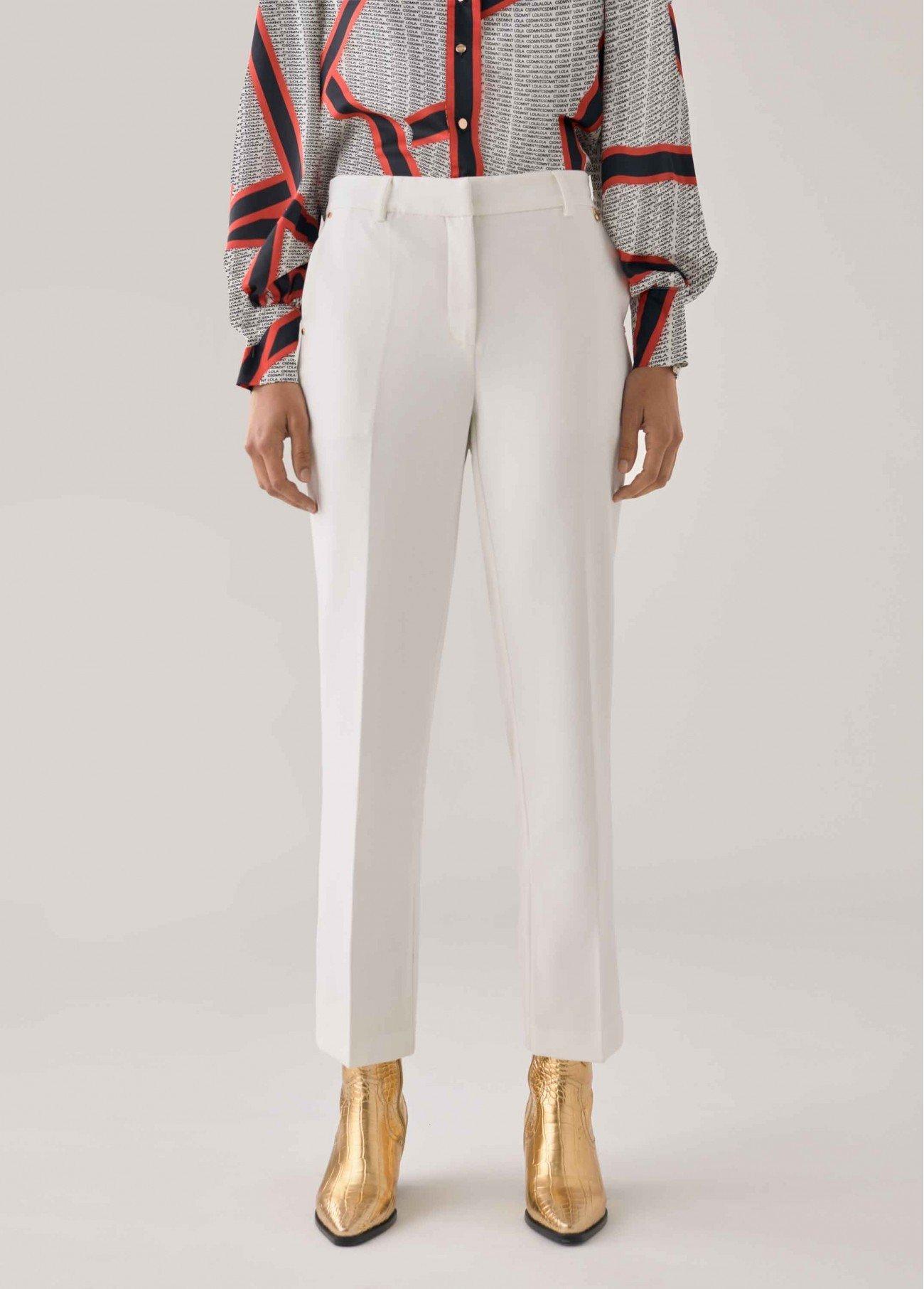 Pantalón con elástico LOVE, blanco, negro 2