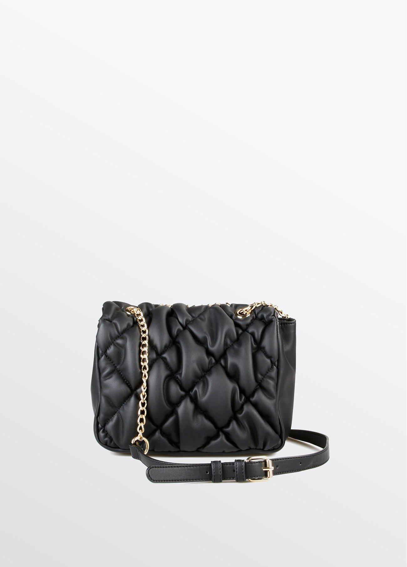Bolso acolchado con cadena, negro 2