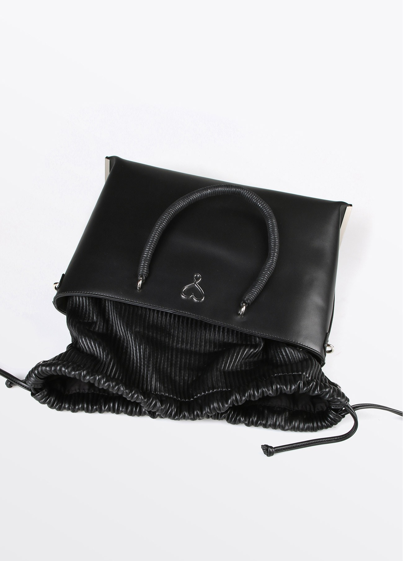 Bolso shopper textura, negro 2