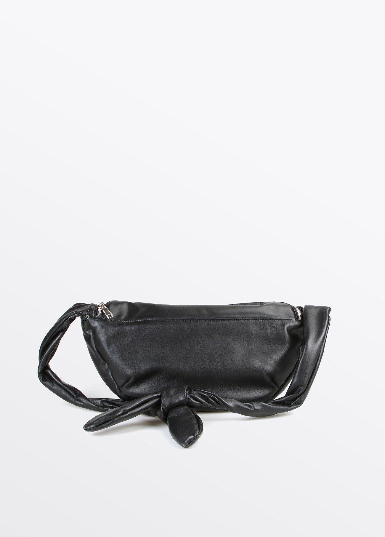 Riñonera bolsillos textura, negro 2