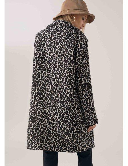 Abrigo ligero animal print, estampado