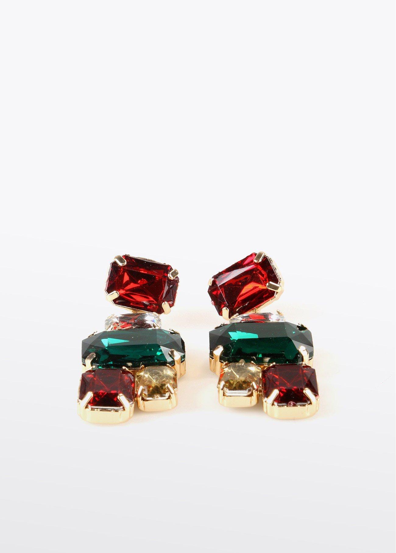 Pendientes piedras colores, multi 2
