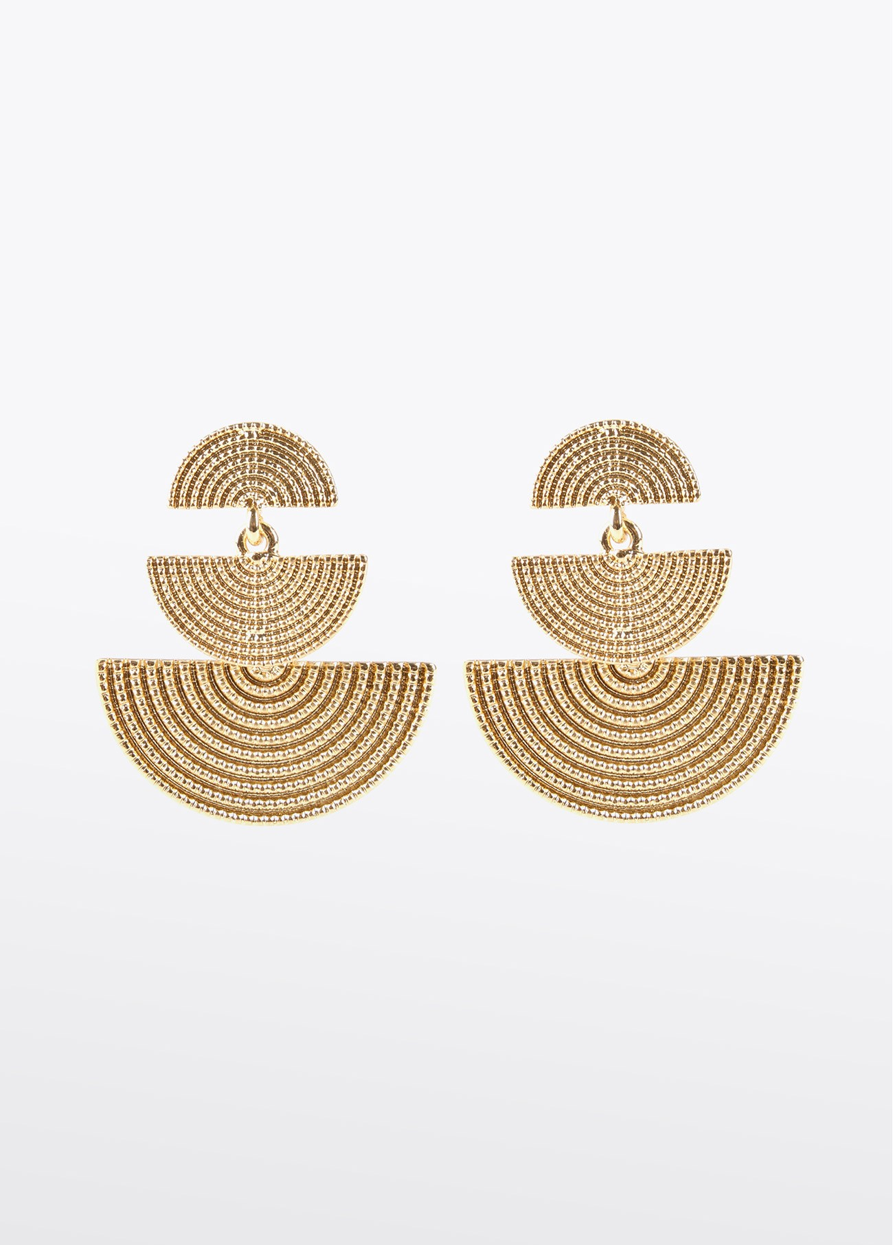 Pendientes en forma de medialuna, dorado 2