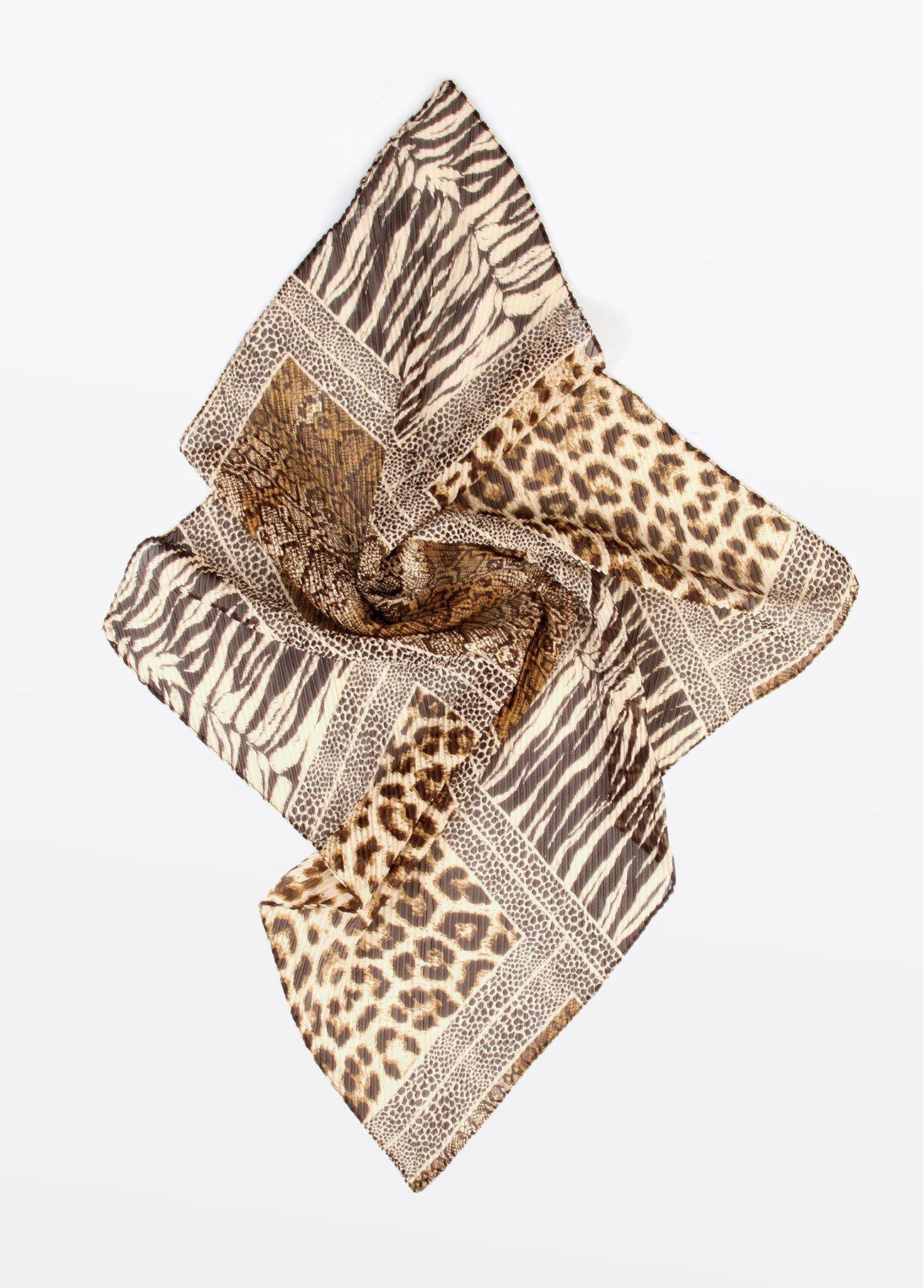 Pañuelo cuello estampado patch serpiente, estampado 2