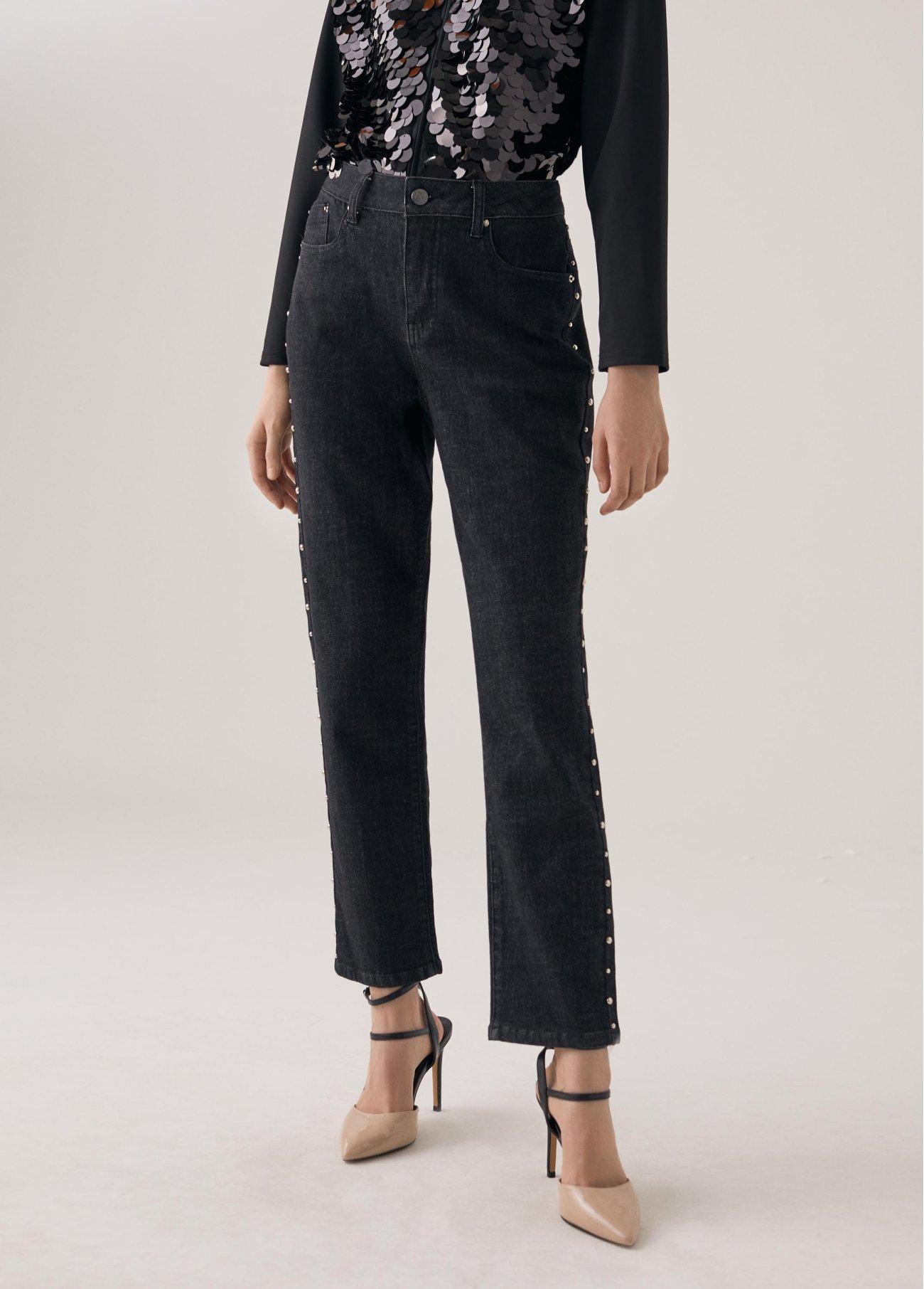Jeans tachuelas metálicas, negro 2