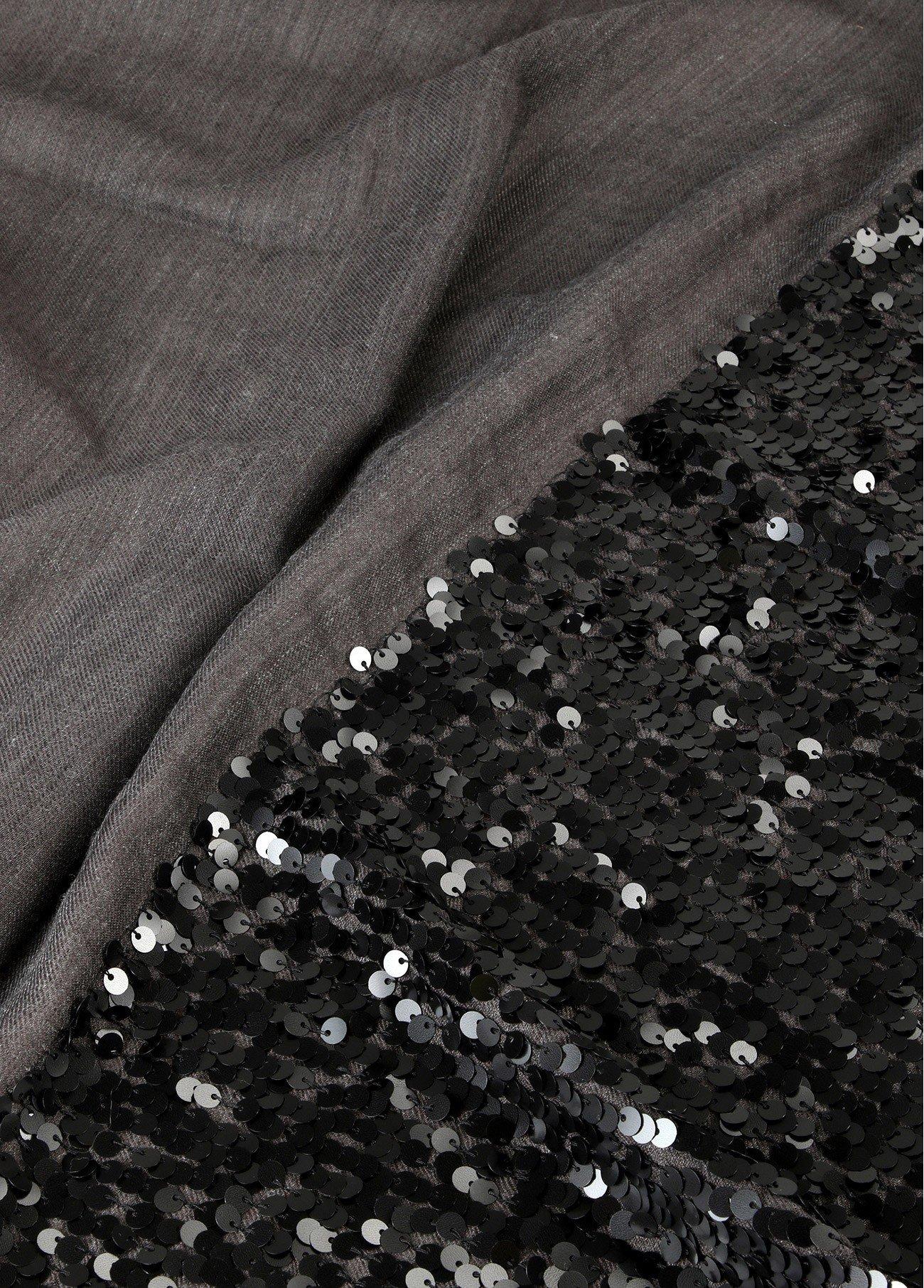 Chal lentejuelas, gris 2
