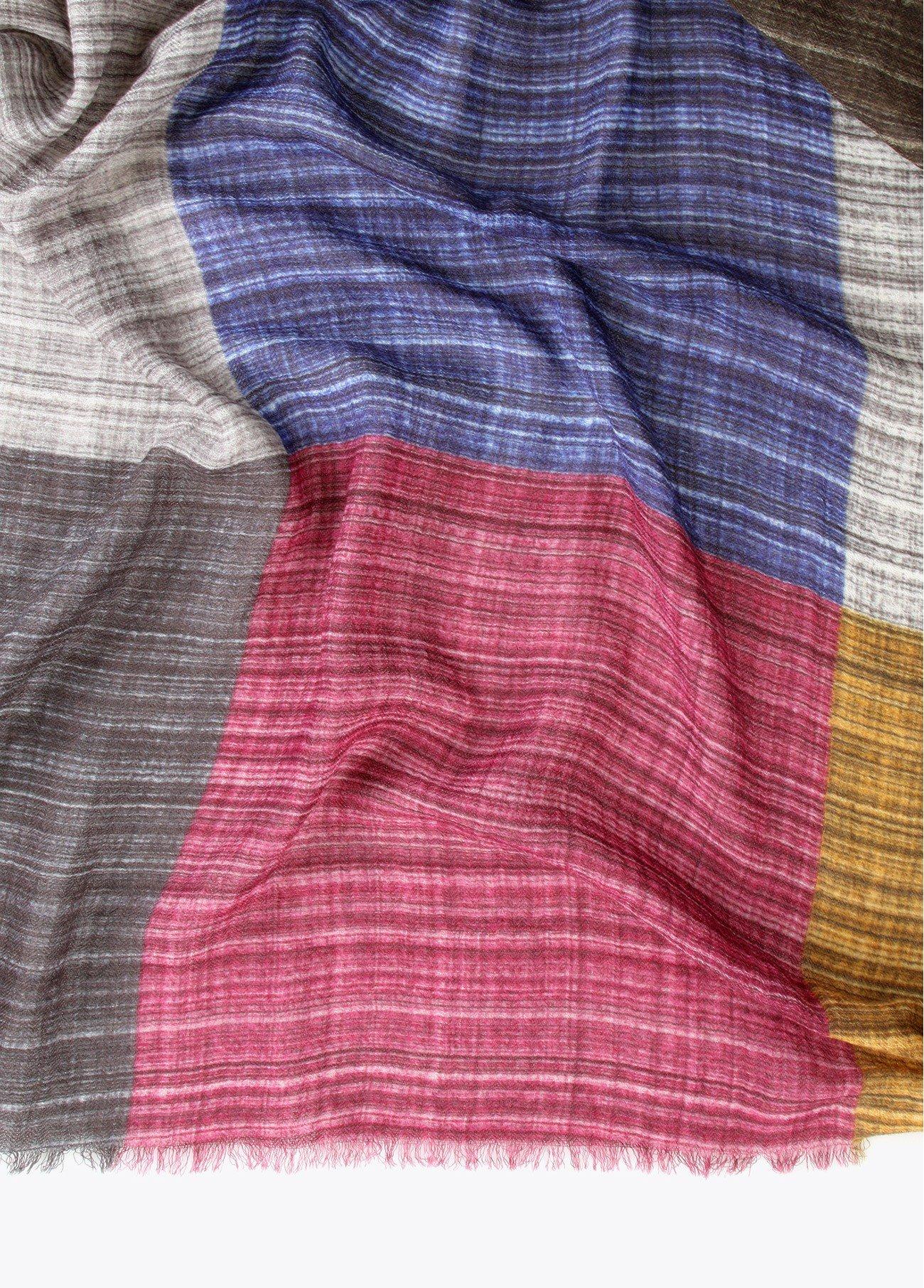 Chal estampado cuadros multicolor, multi 2