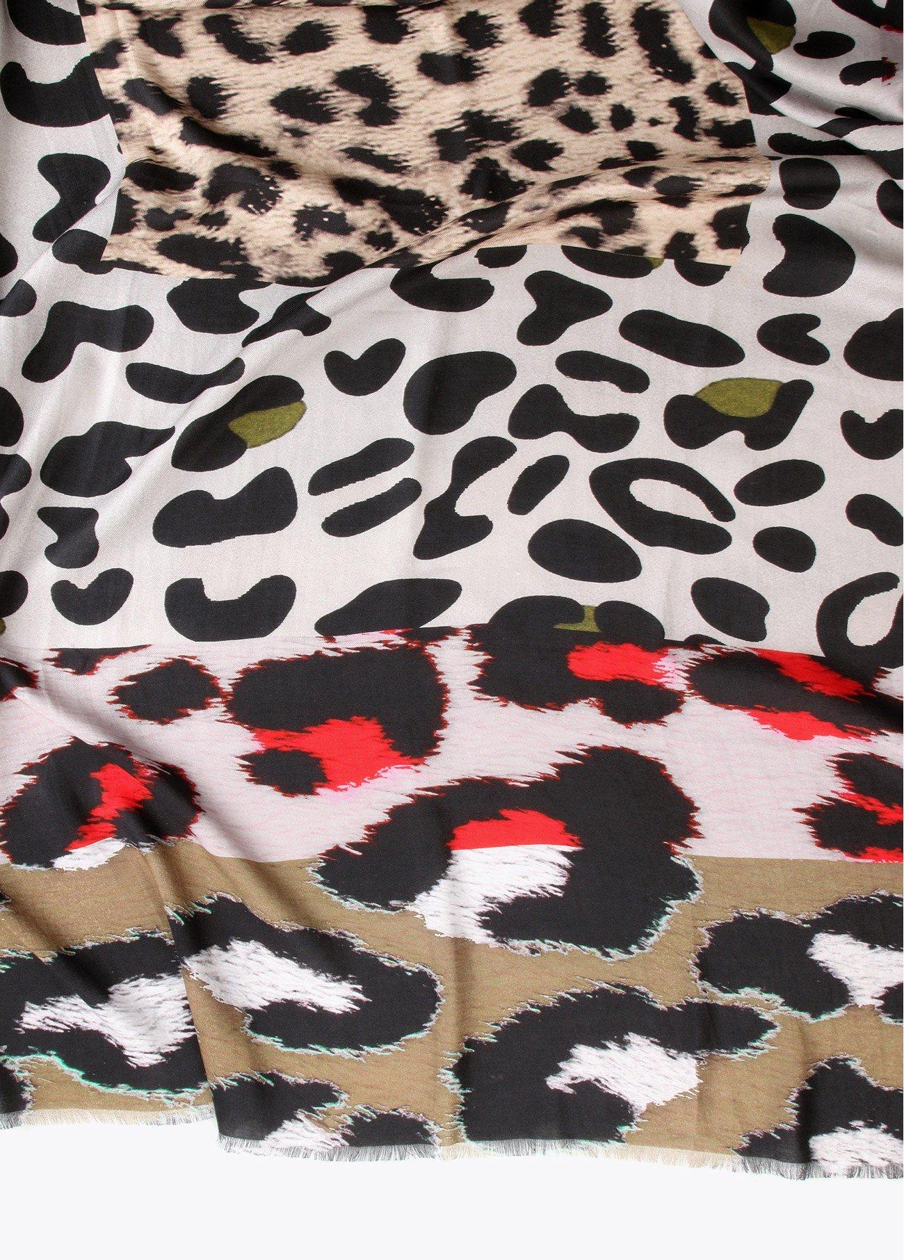 Chal estampado leopardo, estampado 2