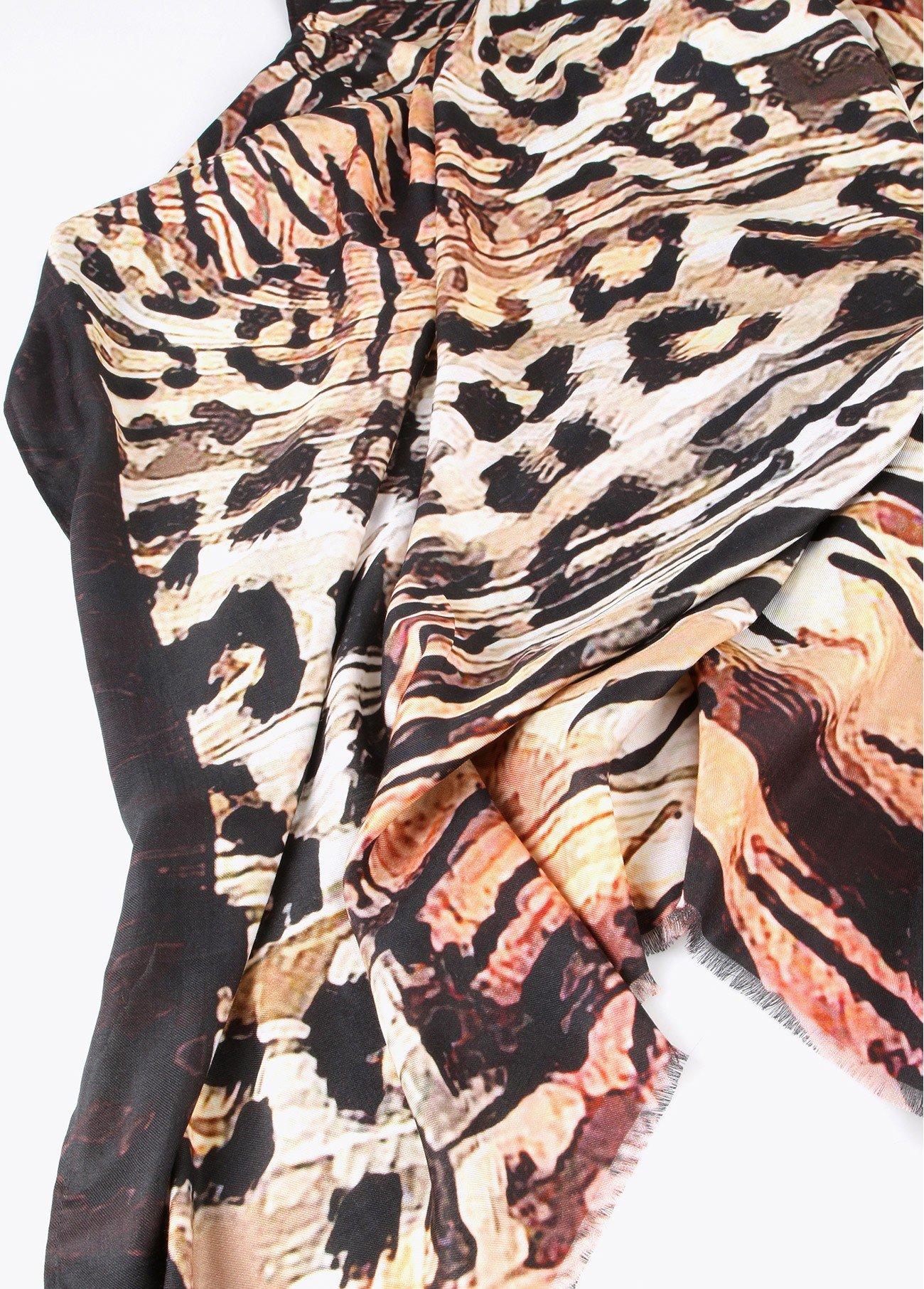 Chal estampado leopardo y cebra, estampado 2