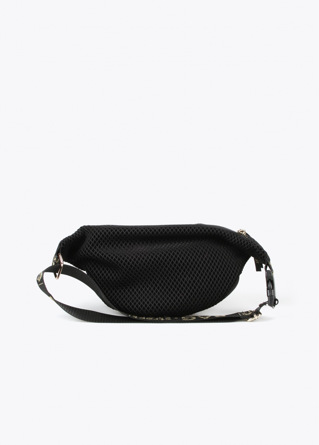 Riñonera bolsillos metálicos, negro 2