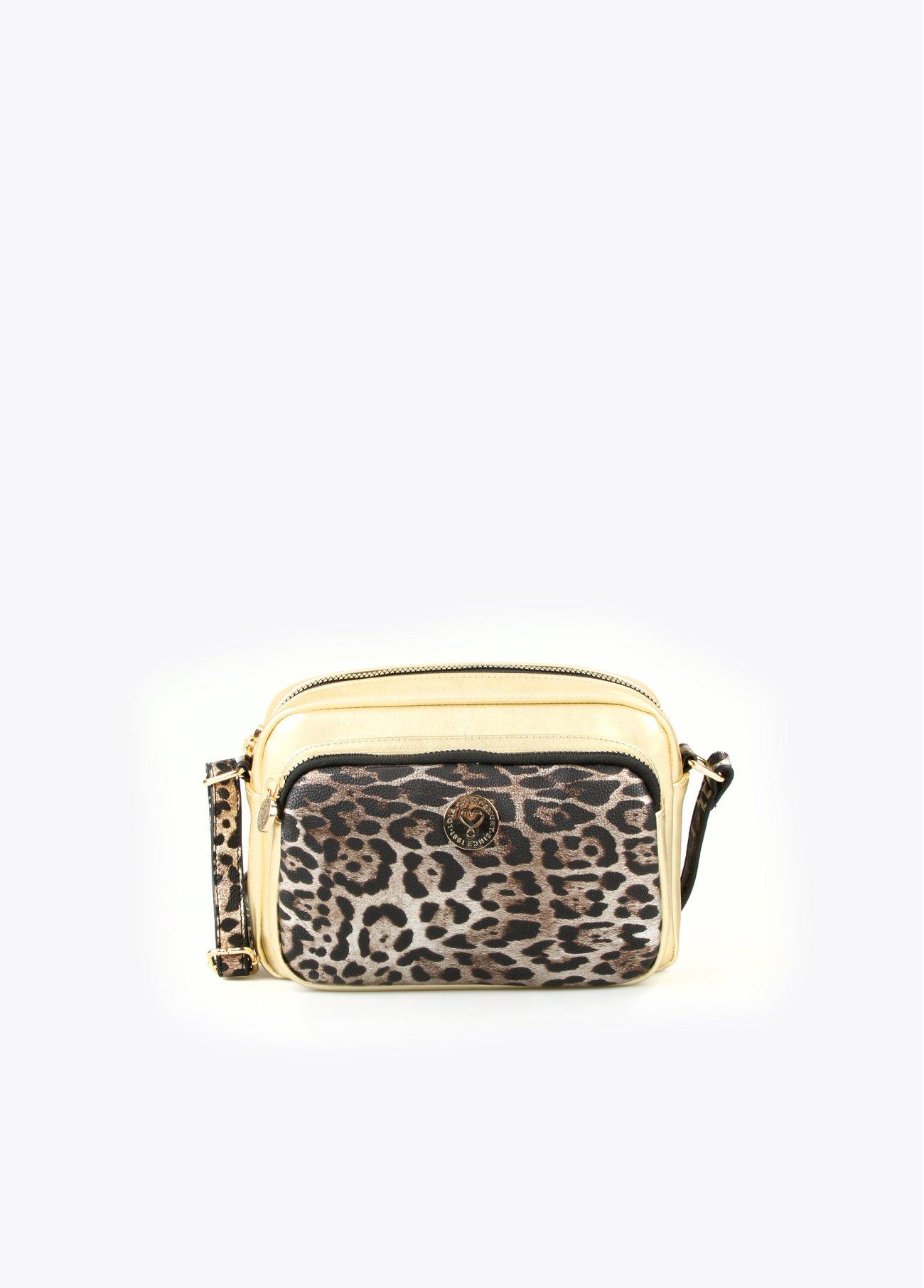 Bandolera dorada leopardo, dorado 2