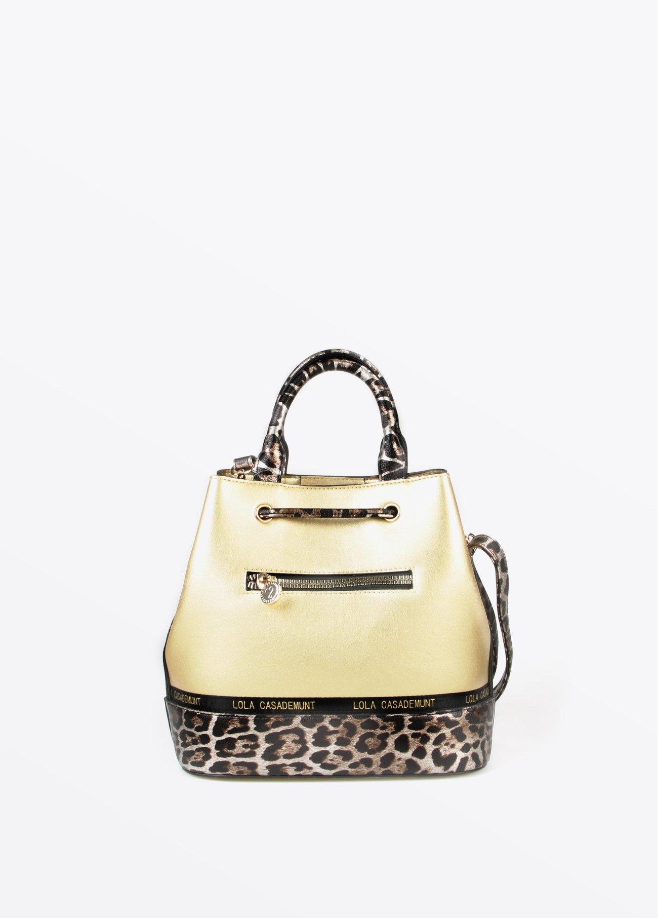 Bolso dorado leopardo, dorado 2