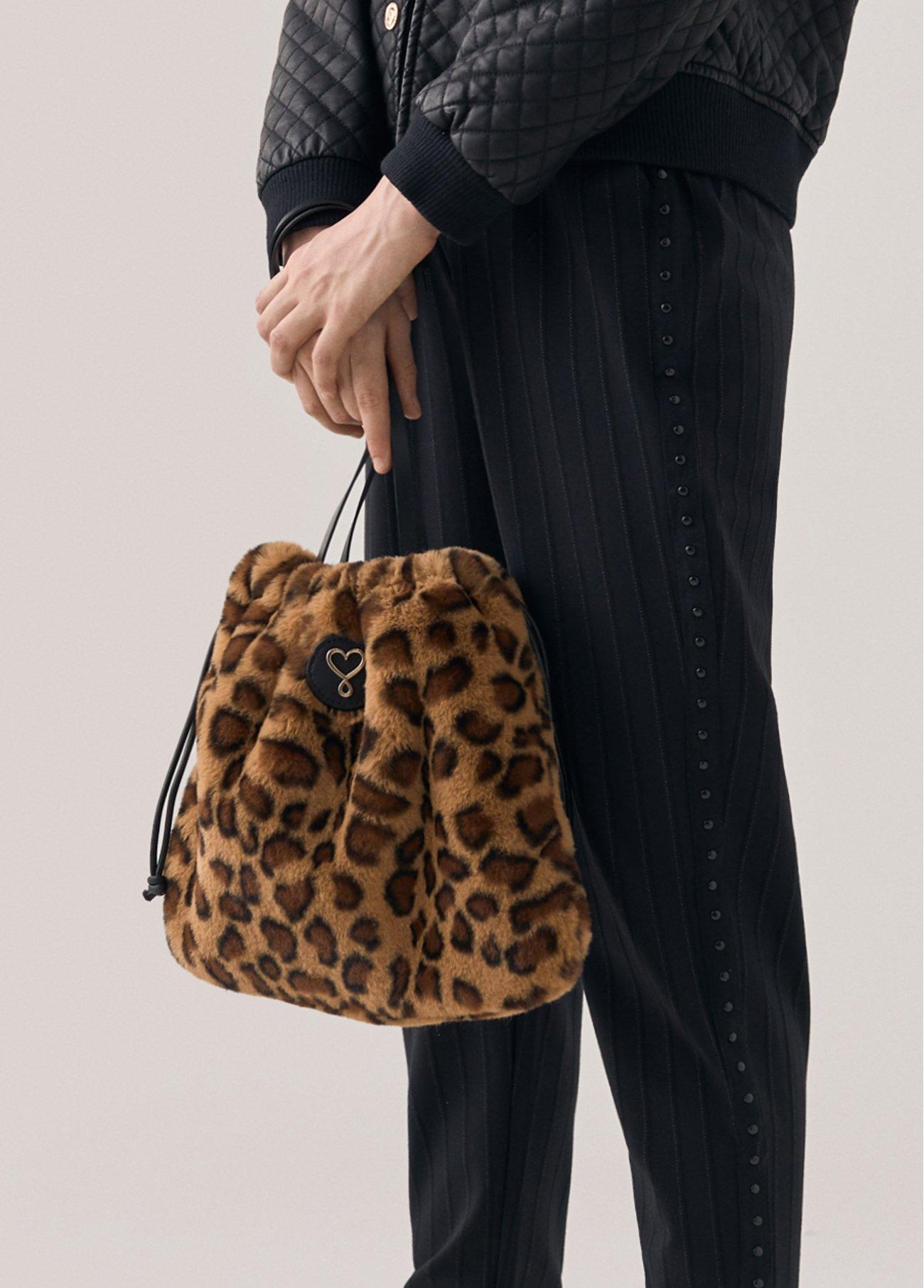 Bolso mini fake fur leopardo, estampado 2