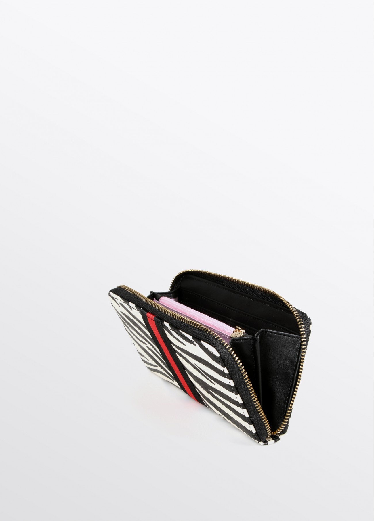 Monedero cebra, estampado 2