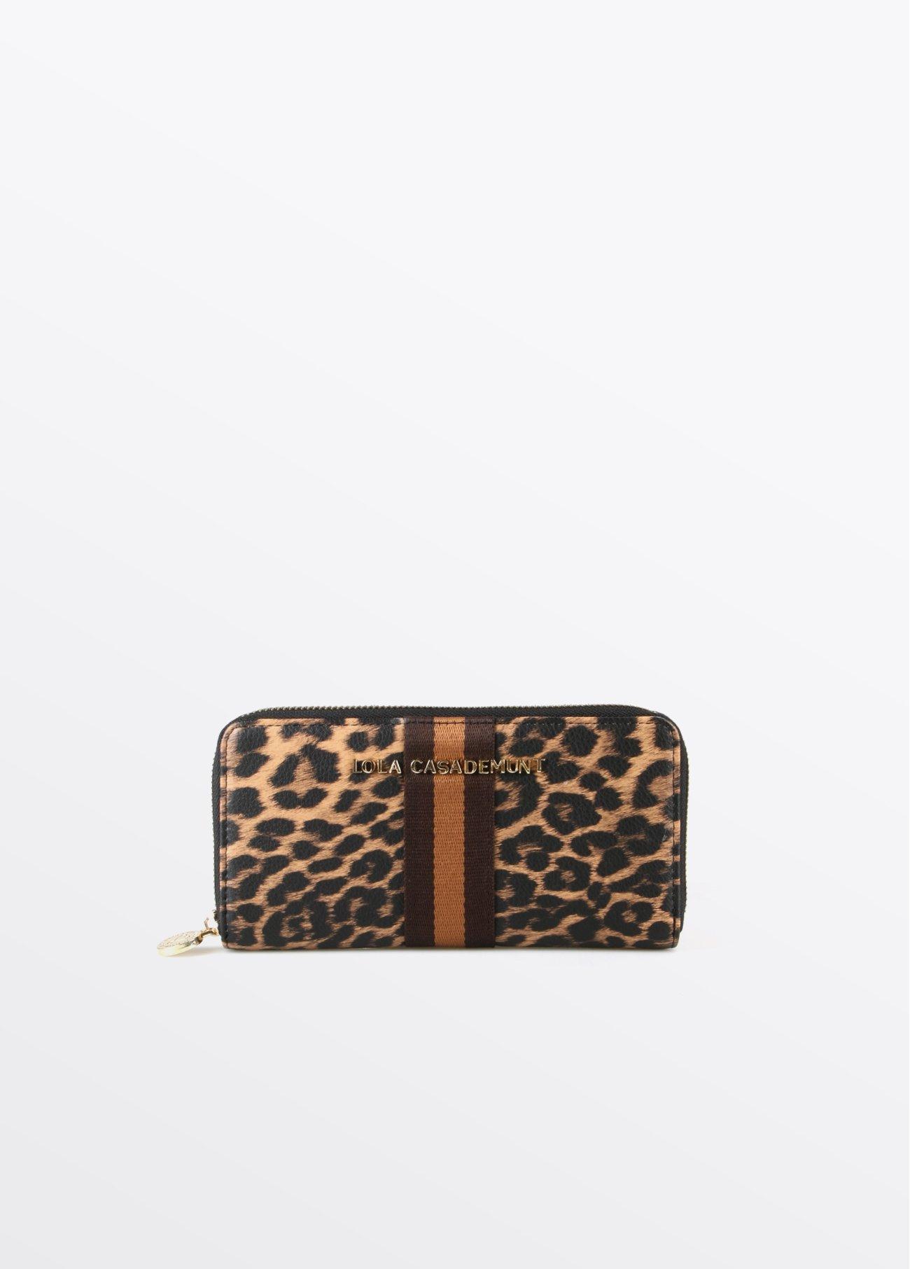 Monedero leopardo, estampado