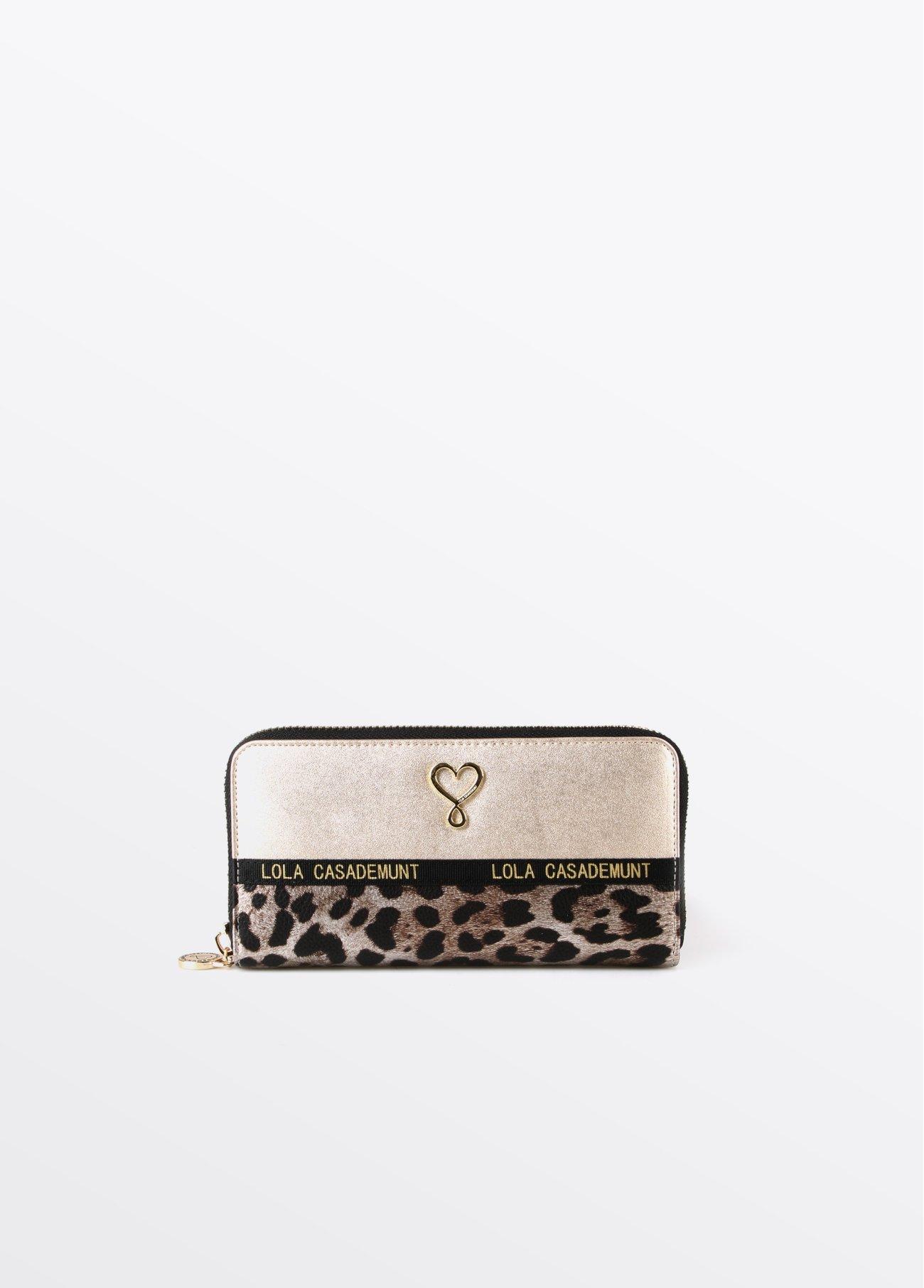 Monedero dorado leopardo, dorado 2