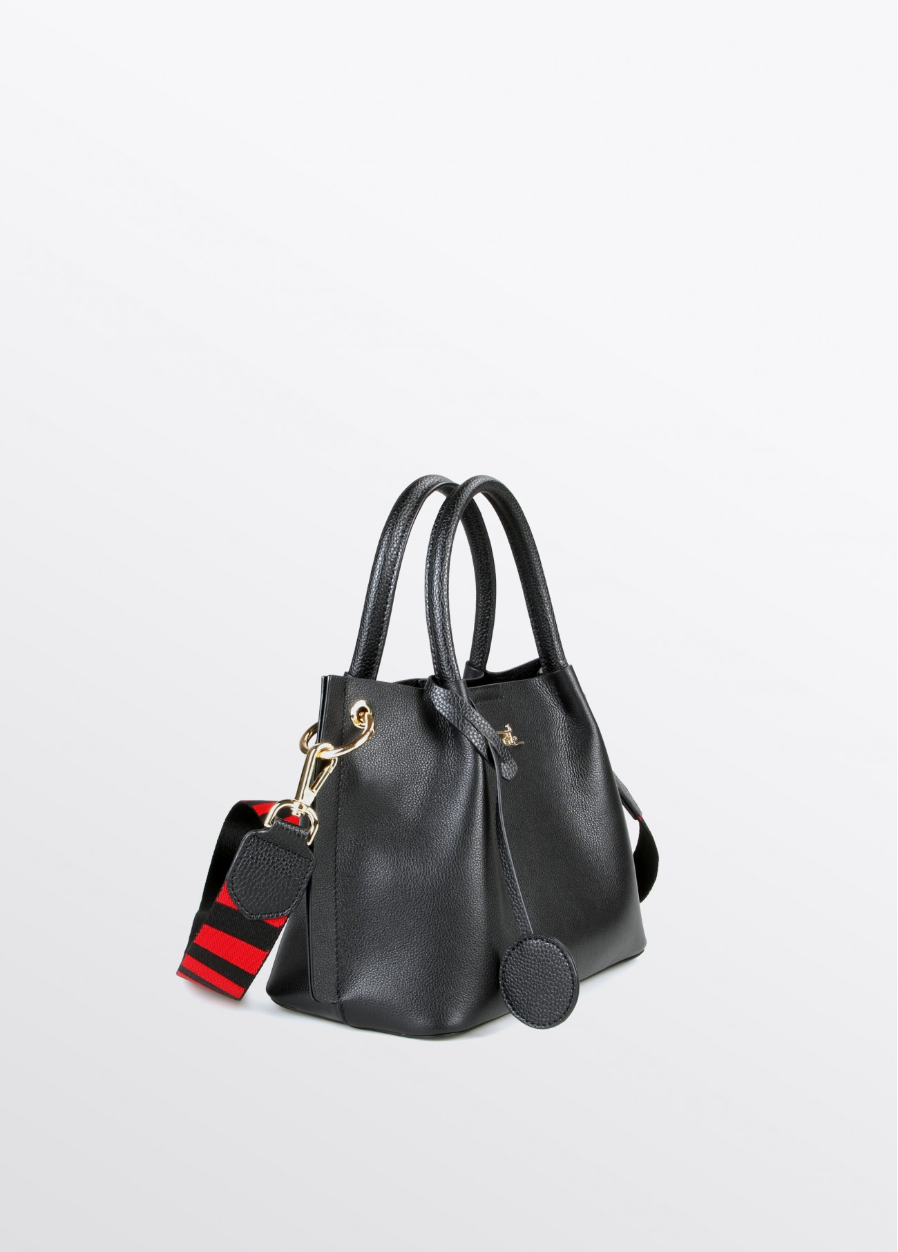 Bolso mini de piel Colección Maite, negro 2