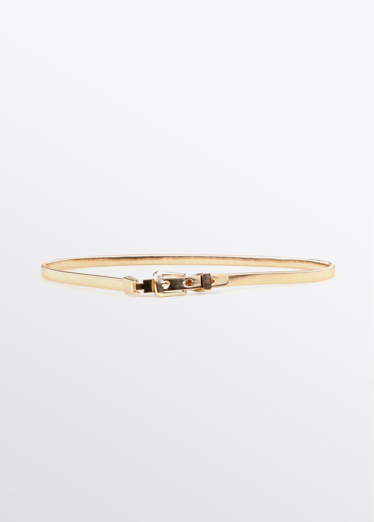 Cinturón elástico metálico, dorado 2