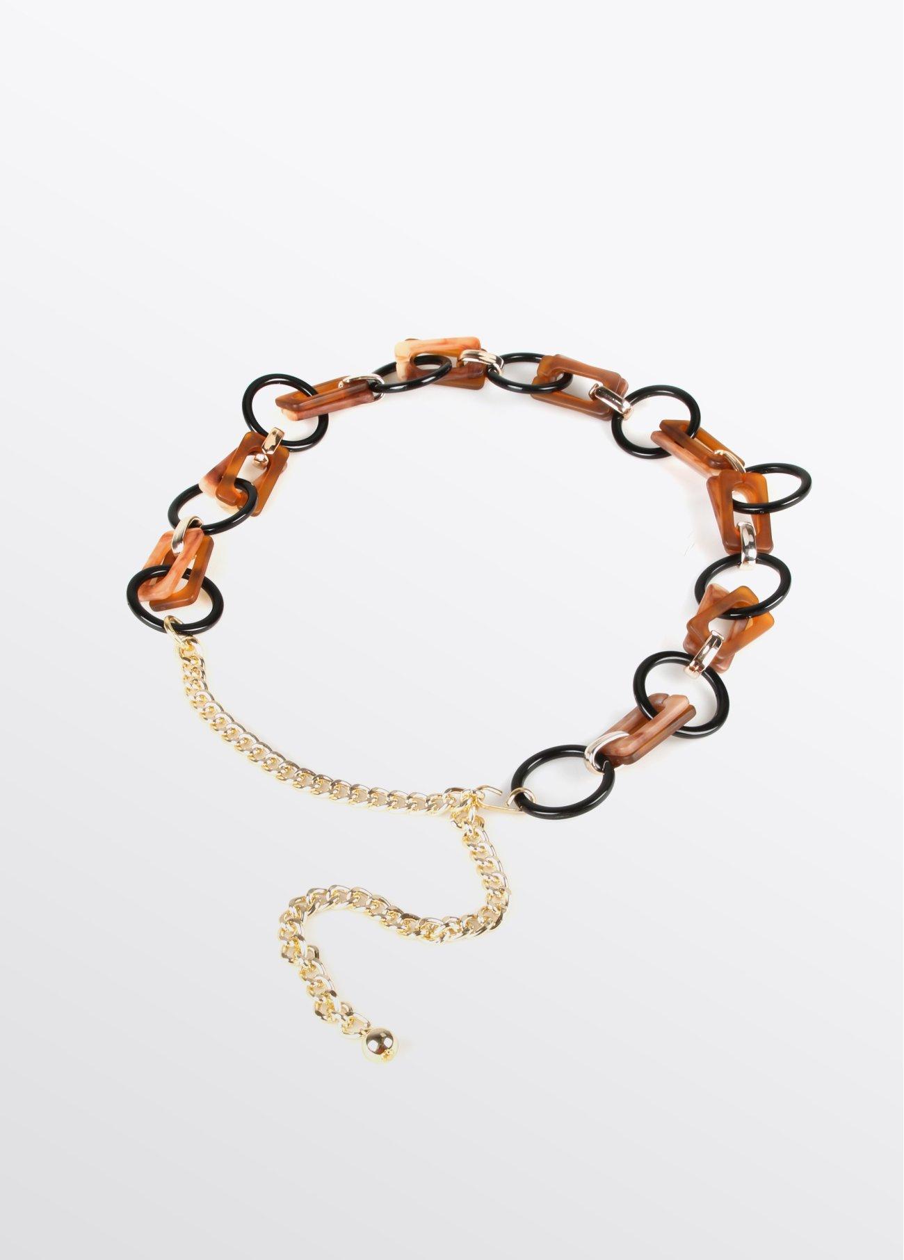 Cinturón estilo cadena, bicolor 2