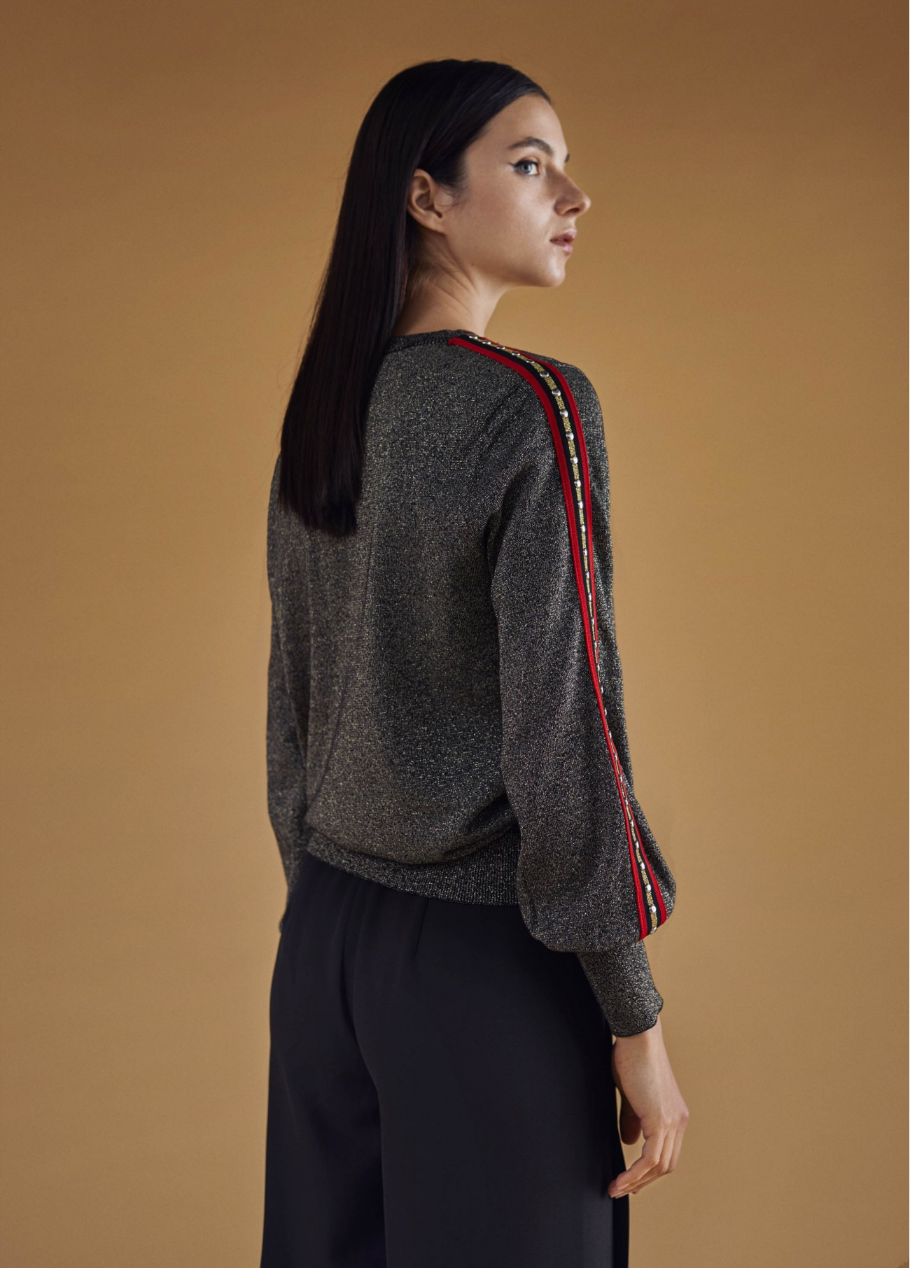 Jersey con motivo mangas, gris 2
