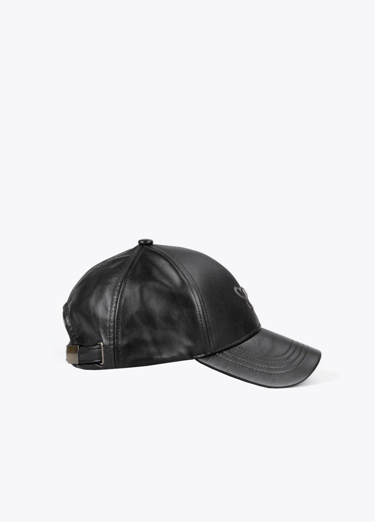Gorra basics de ecopiel, rojo, negro 2