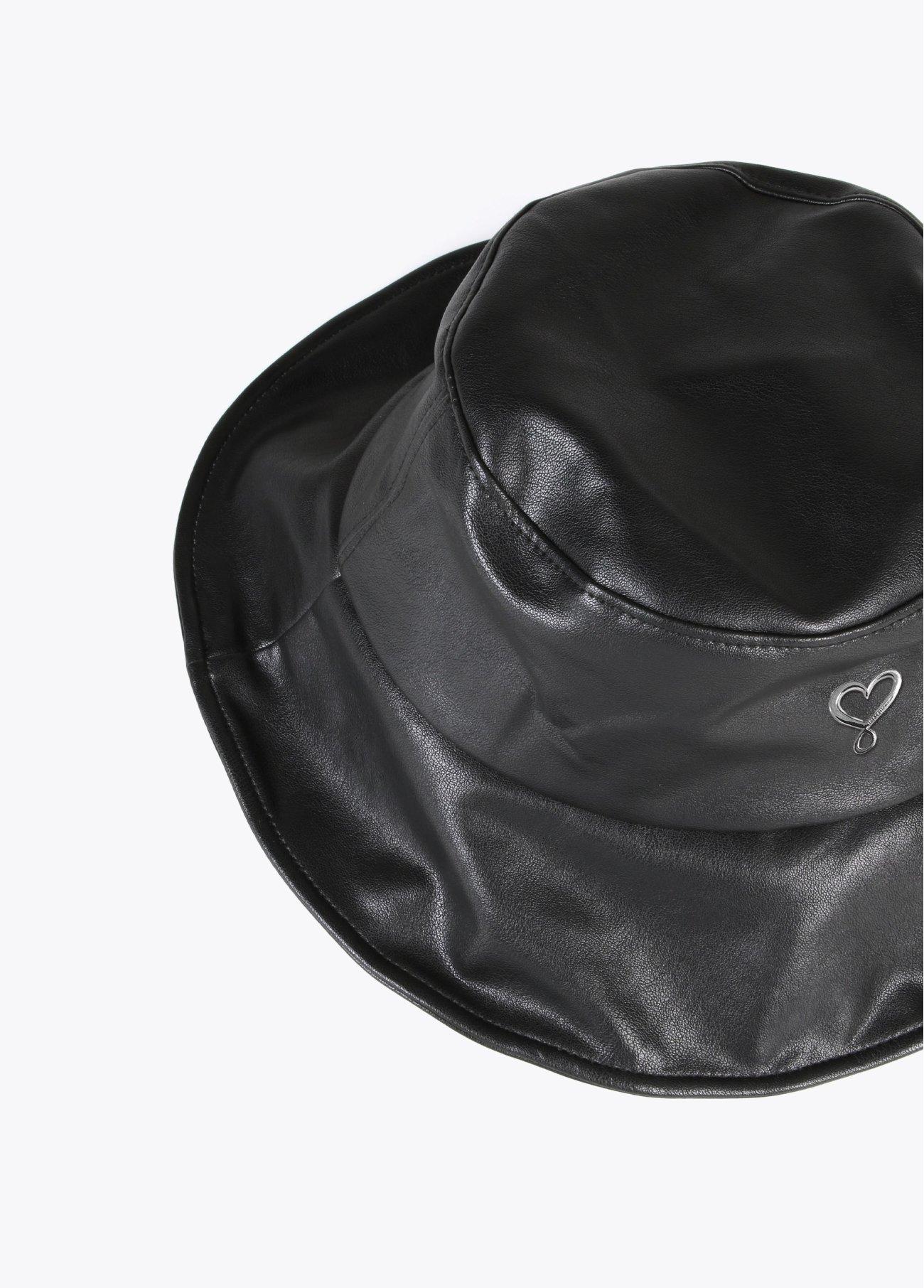 Sombrero bucket ecopiel, negro 2
