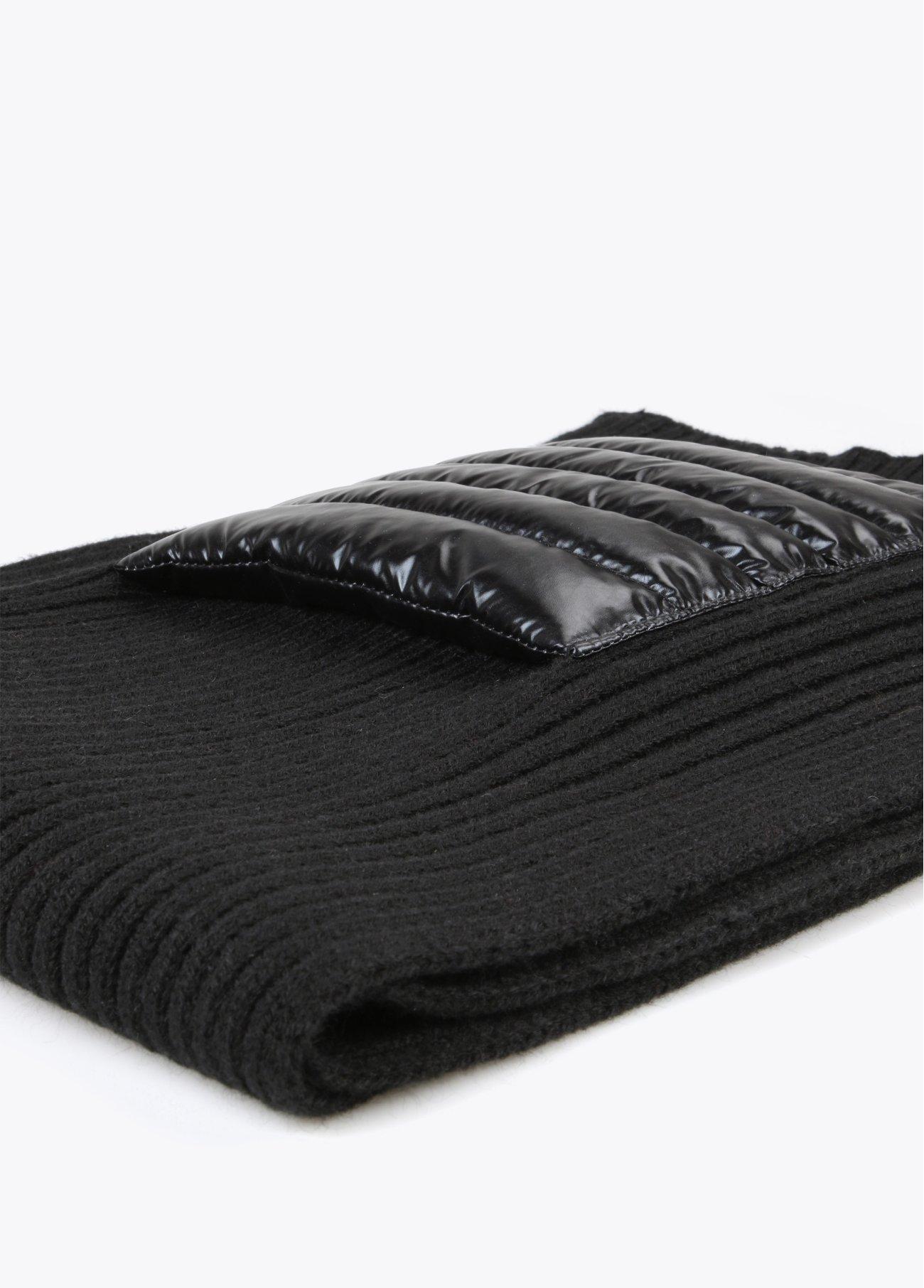 Bufanda bolsillos acolchados, negro 2