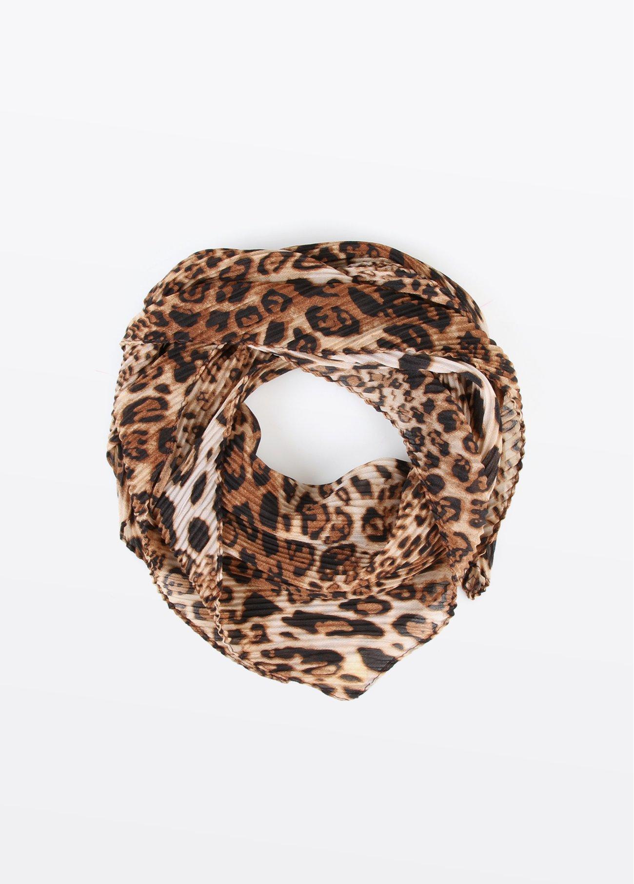 Pañuelo cuello estampado leopardo, estampado 2