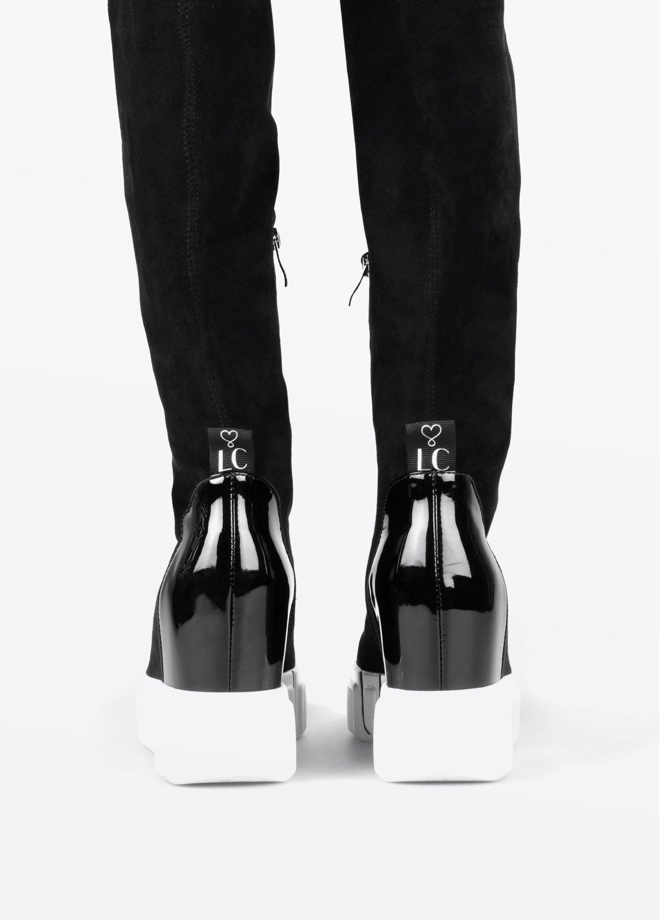 Bota estilo calcetín, negro 2