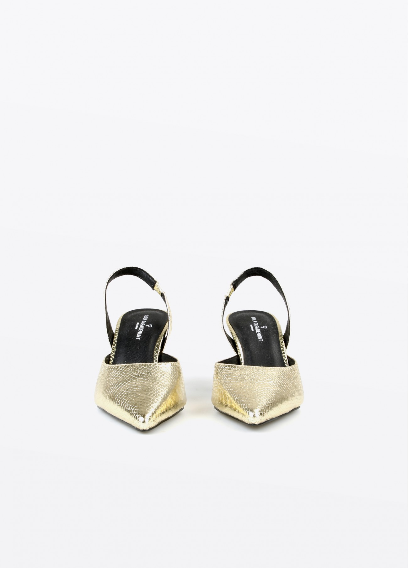 Sandalia tacón serpiente dorada, dorado 2