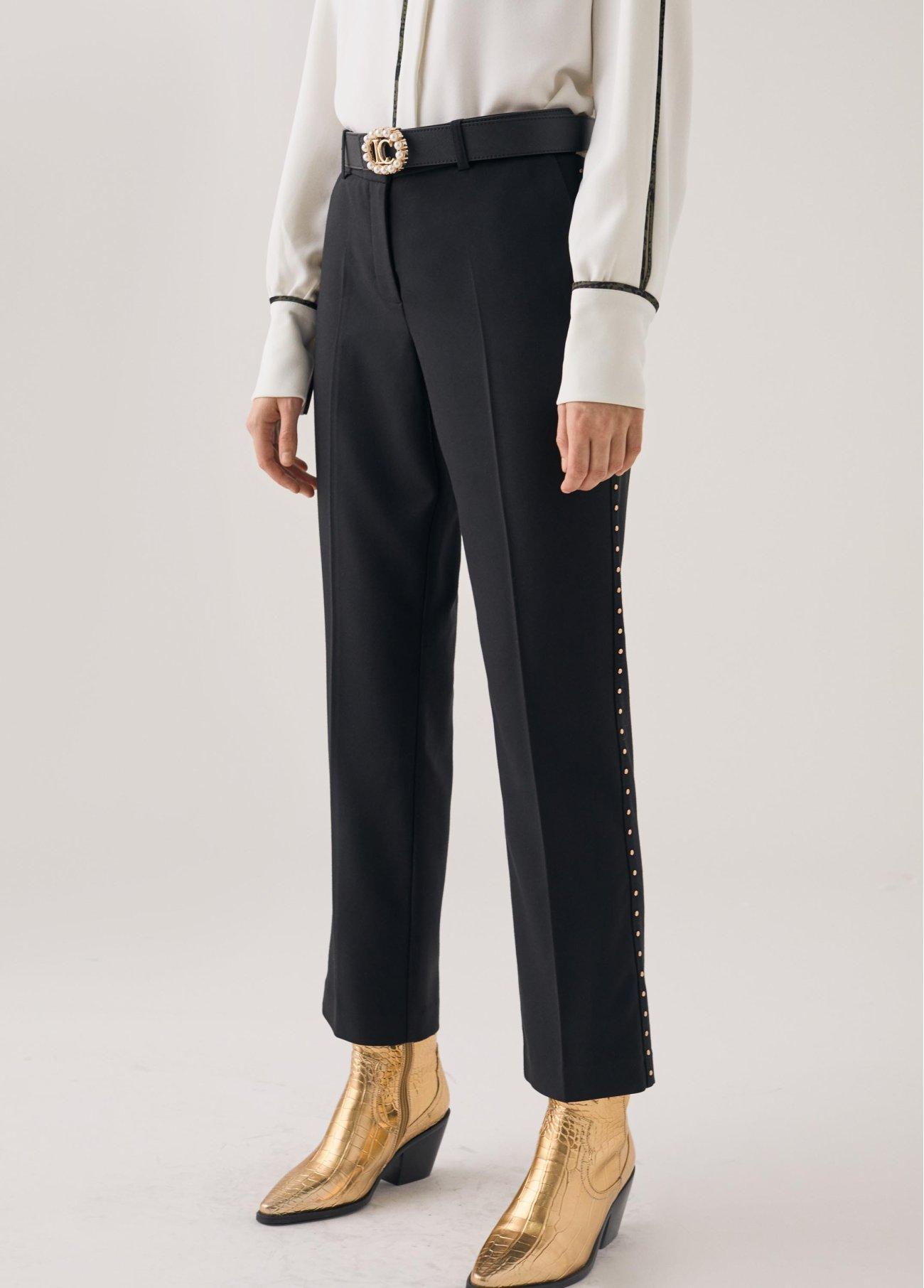 Pantalón con elástico LOVE, blanco, negro